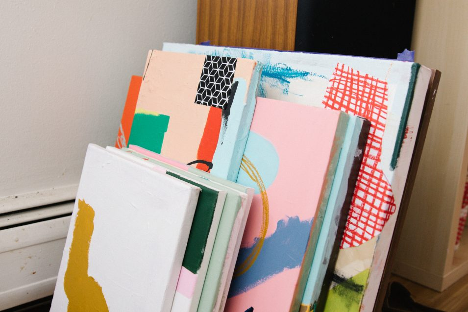 elaine-wendt-stack-of-paintings