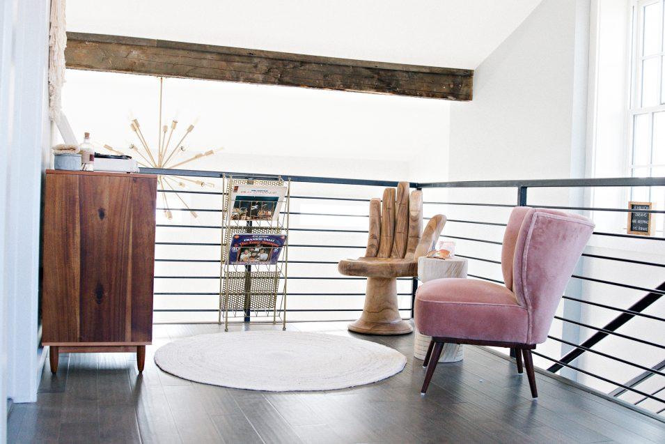 airbnb-boho-loft-sitting-area