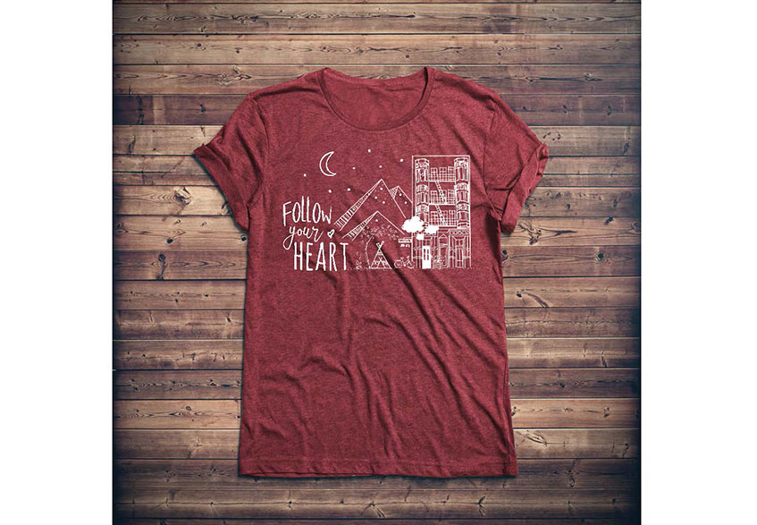 tshirt-design-follow-your-heart